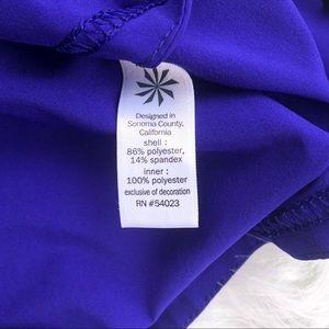Athleta Shorts - Athleta racer run shorties purple athletic shorts